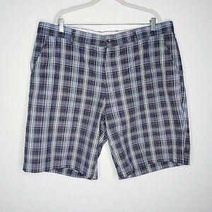 Greg Norman Gray Plaid Golf Shorts 42